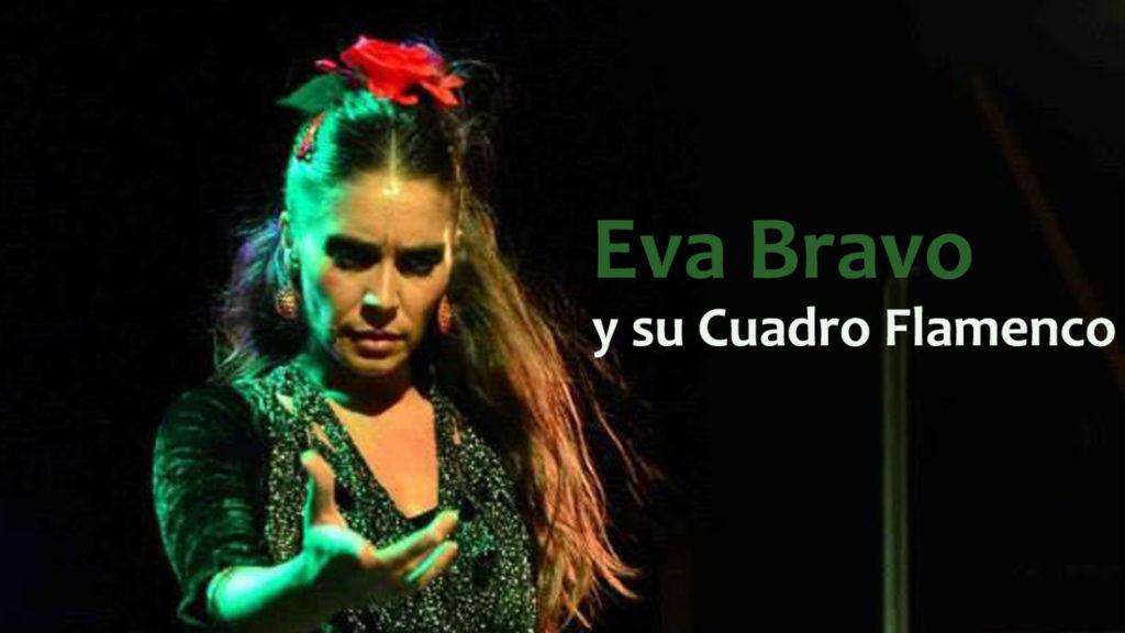 Eva Bravo y su cuadro flamenco