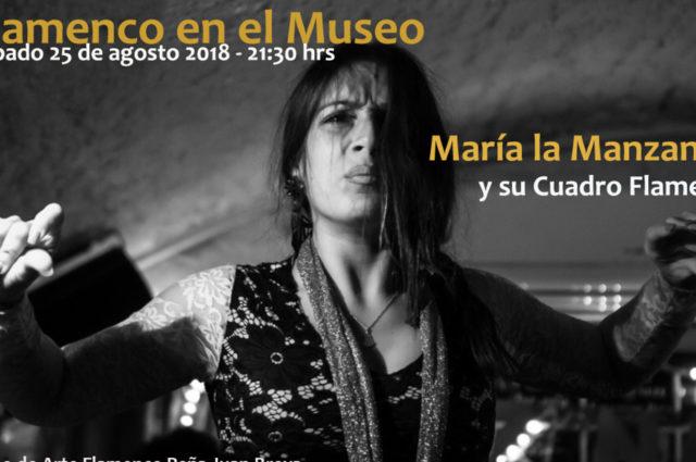 María La Manzanilla en Peña Juan Breva