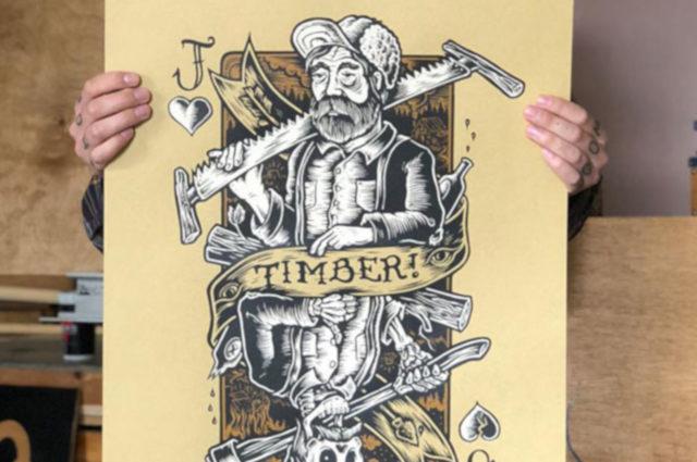 Exposición Timber en la Escuela de Arte de San Telmo