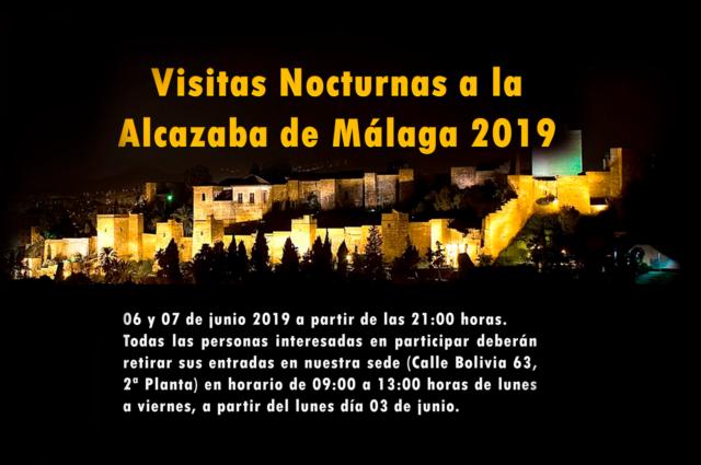 Visitas nocturnas a la Alcazaba 2019