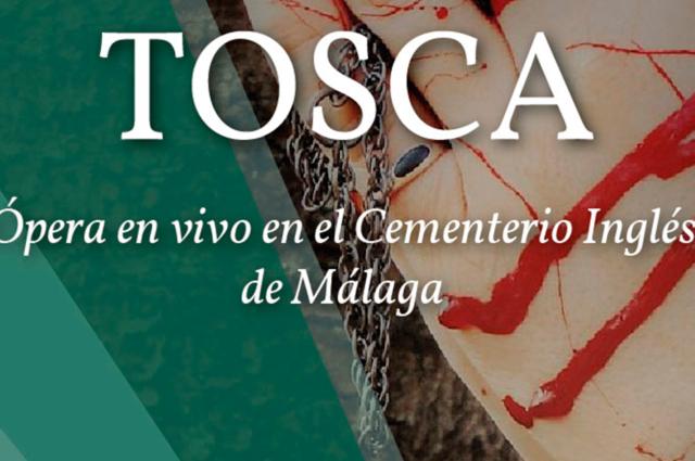 Tosca. ópera en vivo en el Cementerio Inglés de Málaga